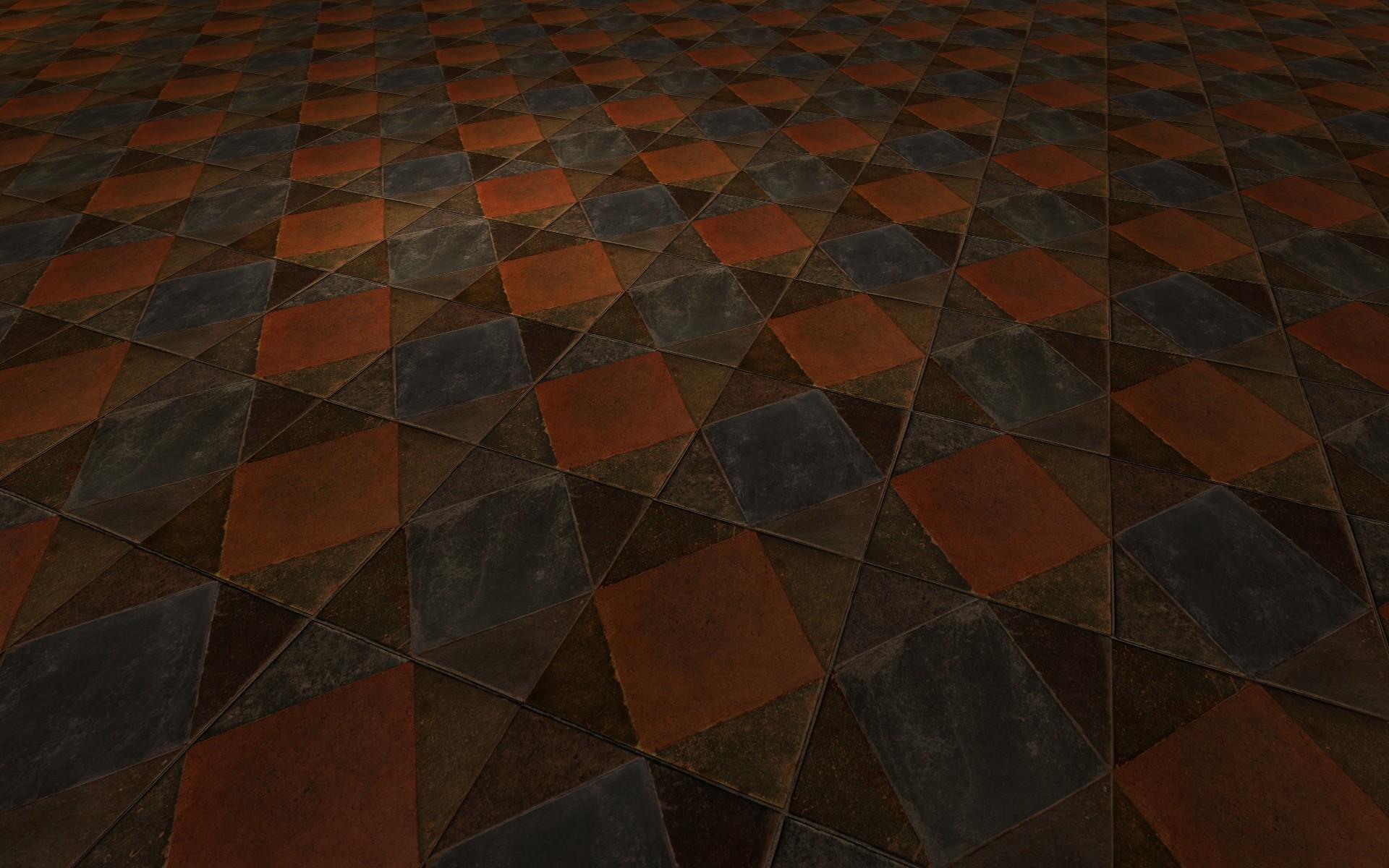 Plancher en dalles carrées