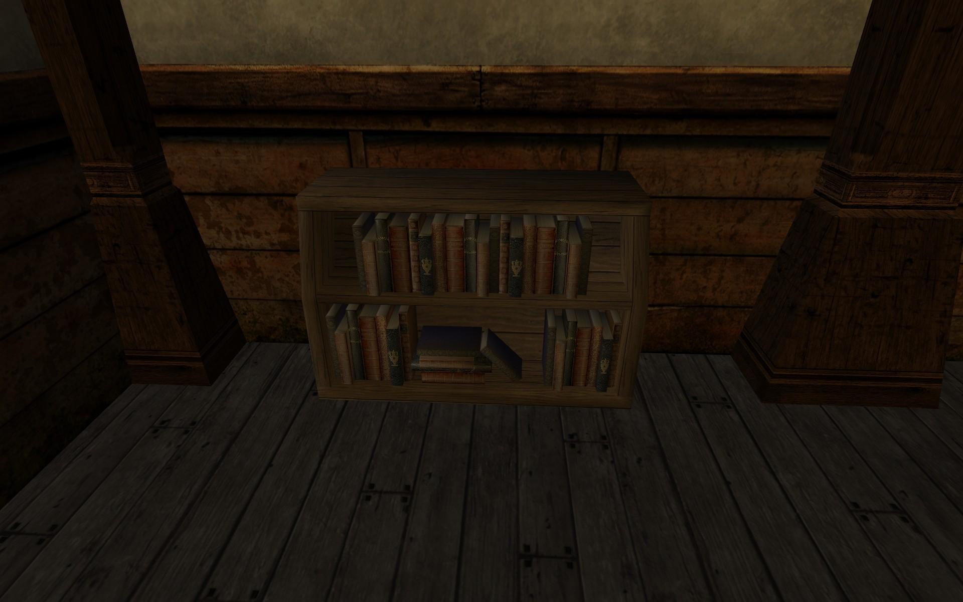 Petite étagère d'érudit en bois tordu