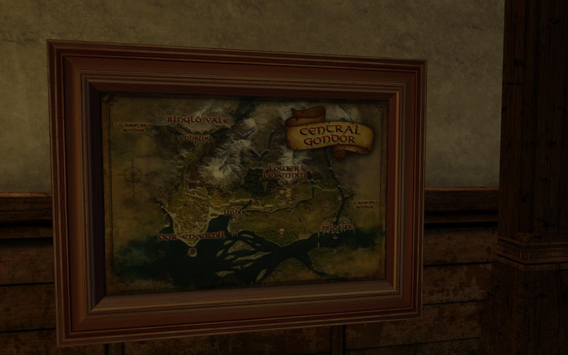Grande carte du Centre du Gondor