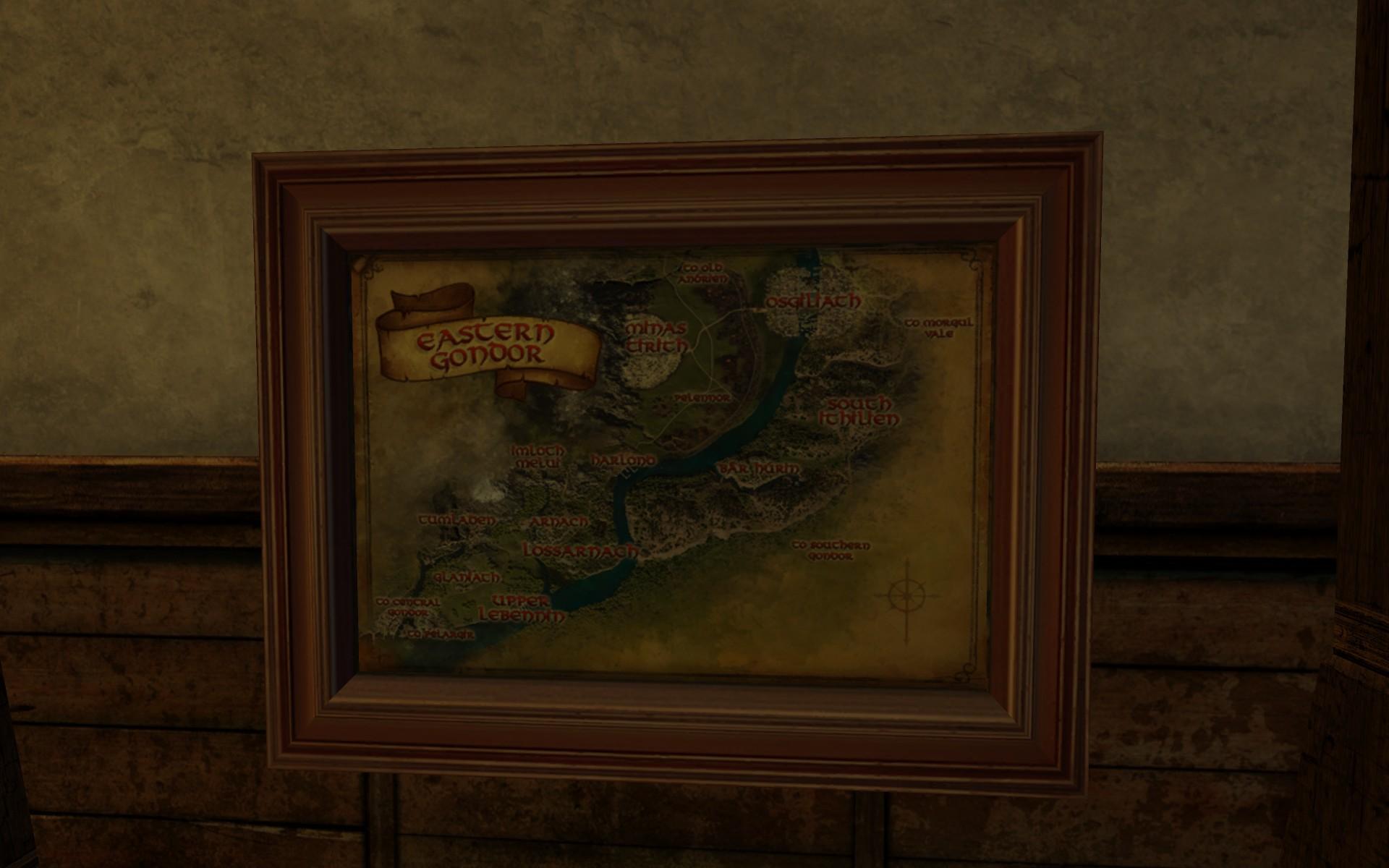 Grande carte de l'Est du Gondor