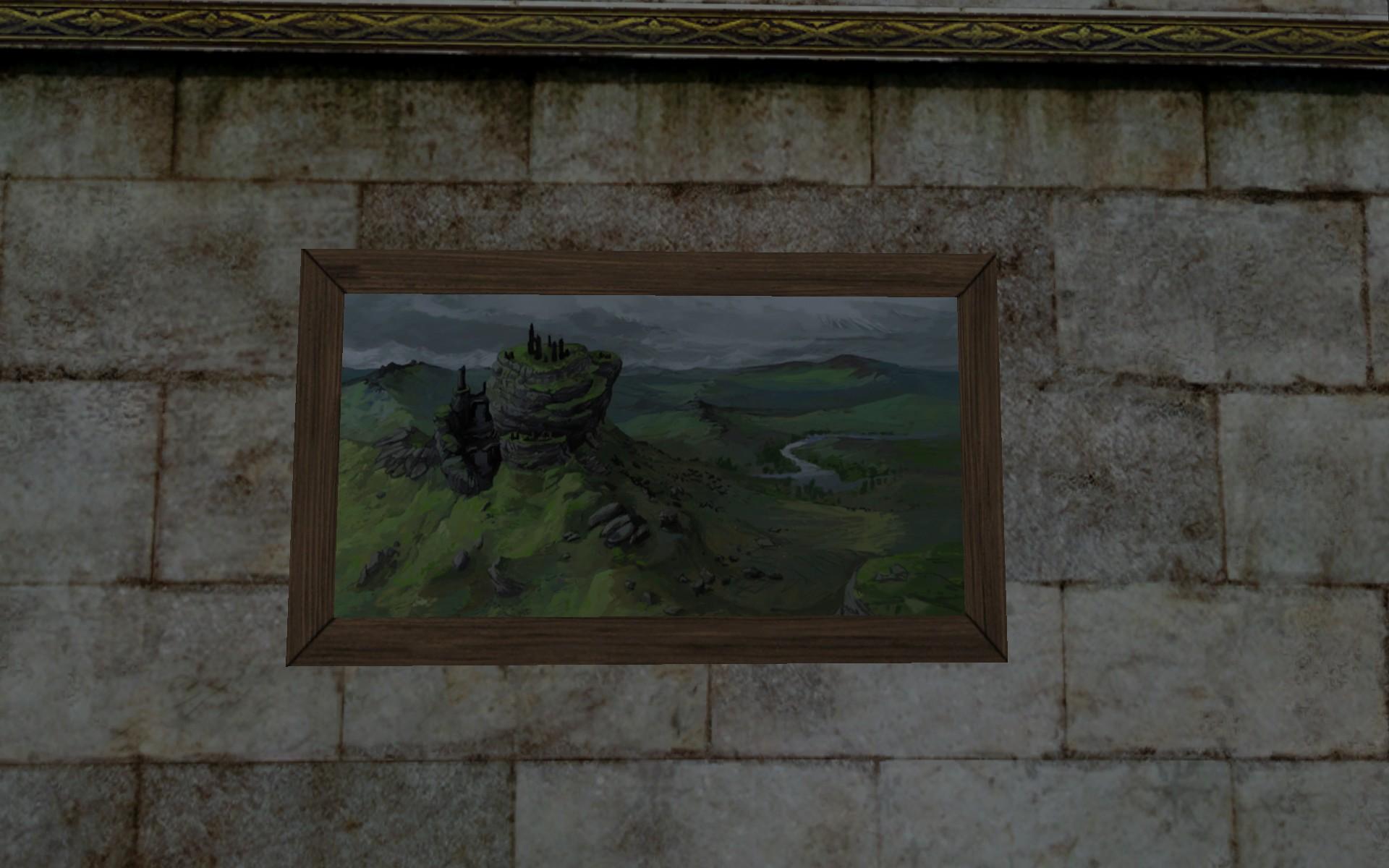 Tableau: Au Sommet du Mont Venteux