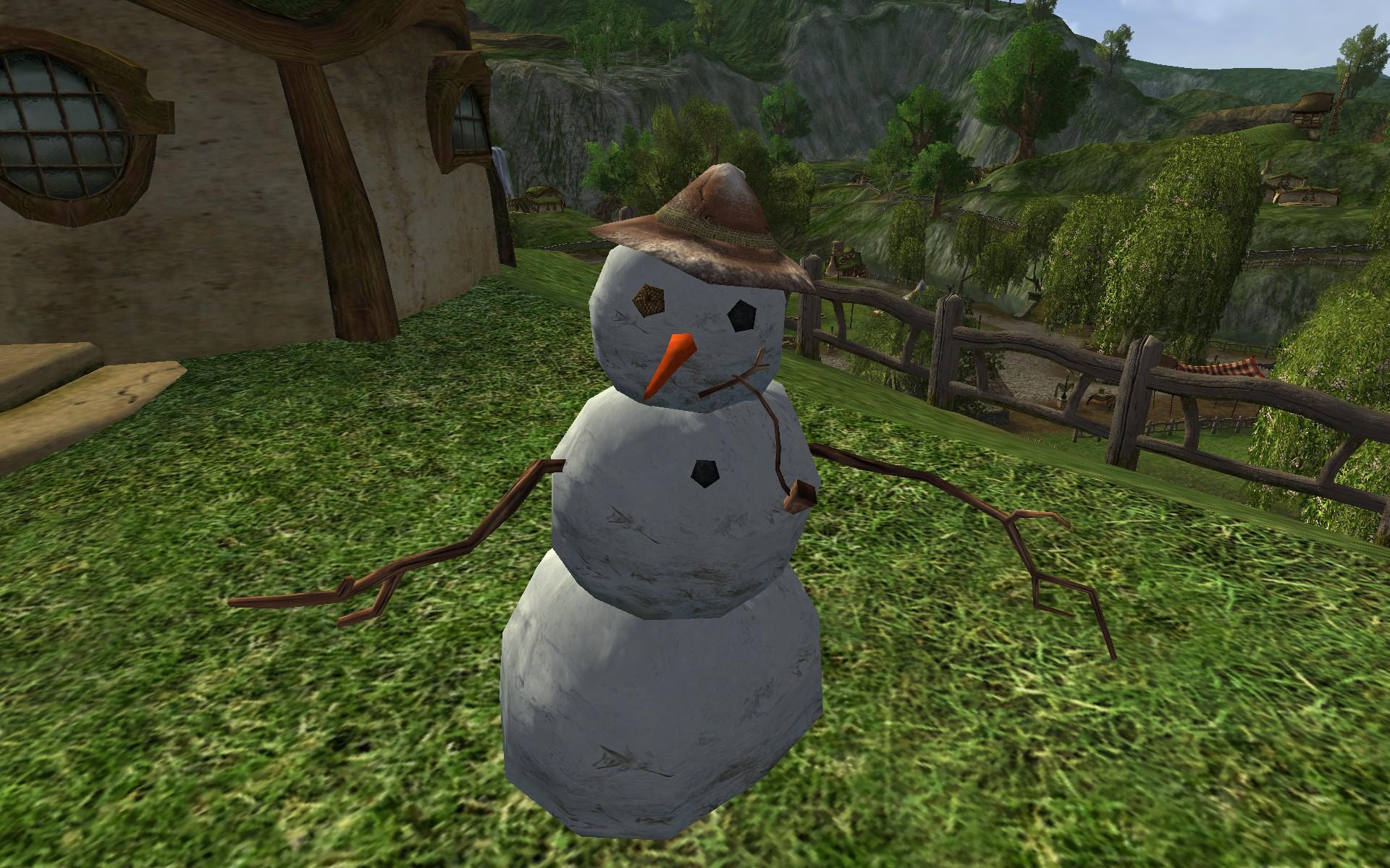 Bonhomme de neige à chapeau marron