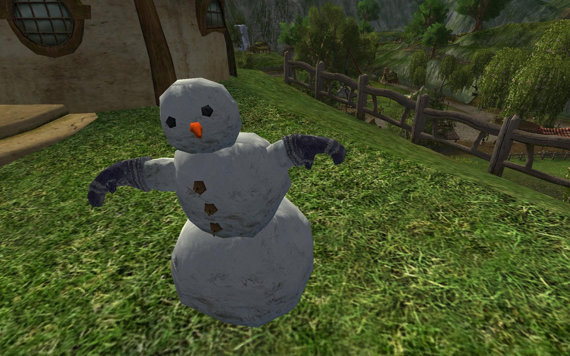 Bonhomme de neige avec des moufles