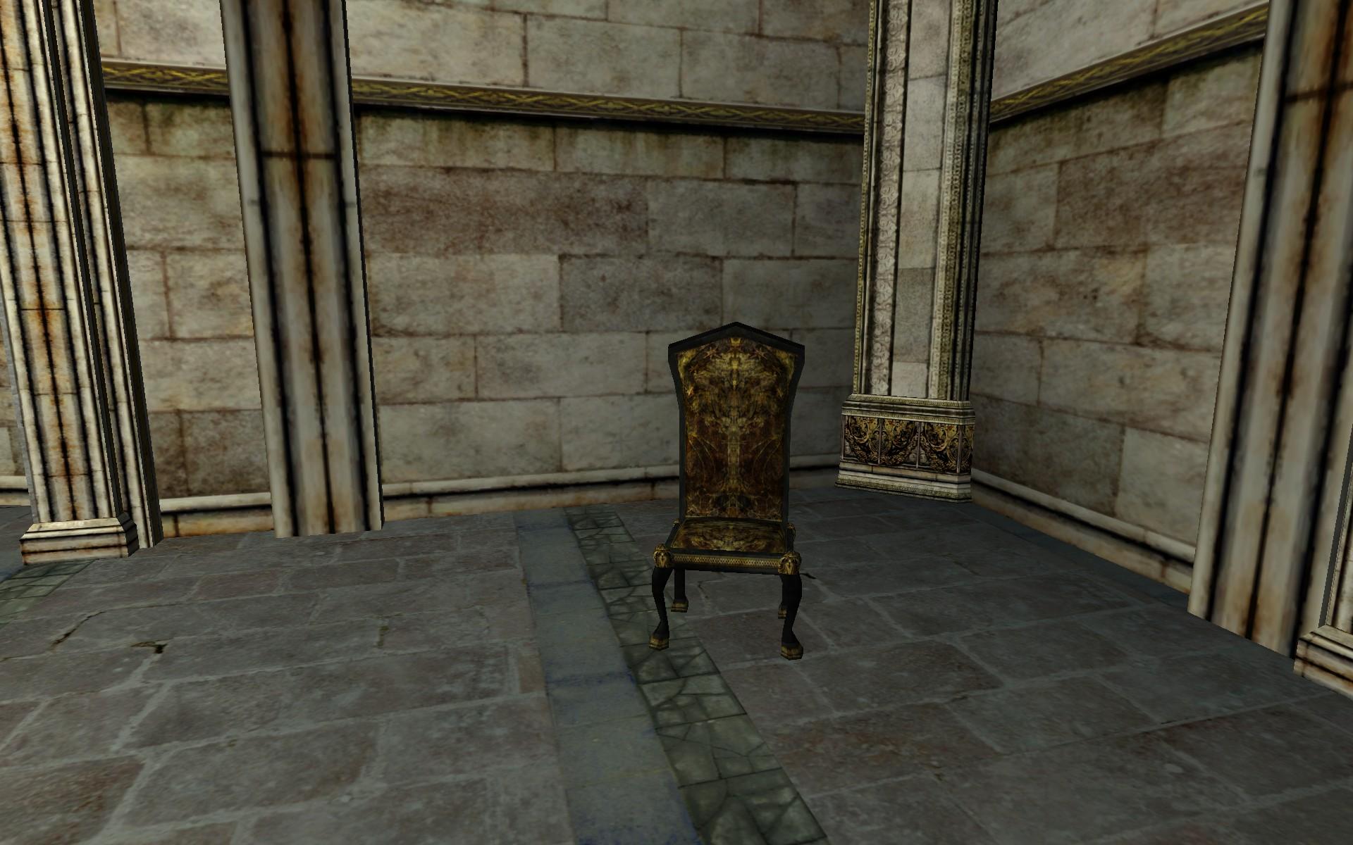 Chaise à grand dossier du Gondor